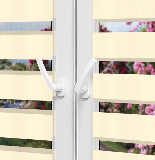 Рулонные шторы День-Ночь — Латина 1302 на пластиковые окна