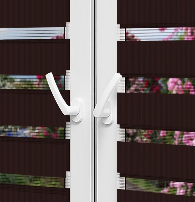 Рулонные шторы День-Ночь — Латина 1307 на пластиковые окна