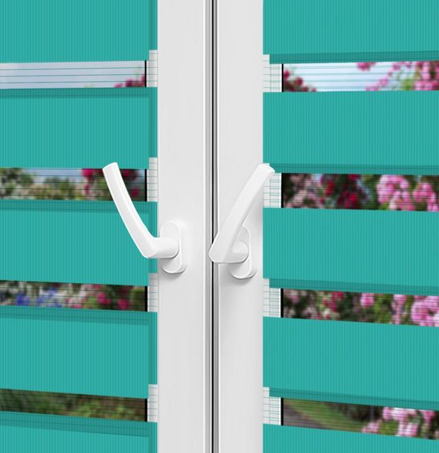 Рулонные шторы День-Ночь — Латина 1809 на пластиковые окна
