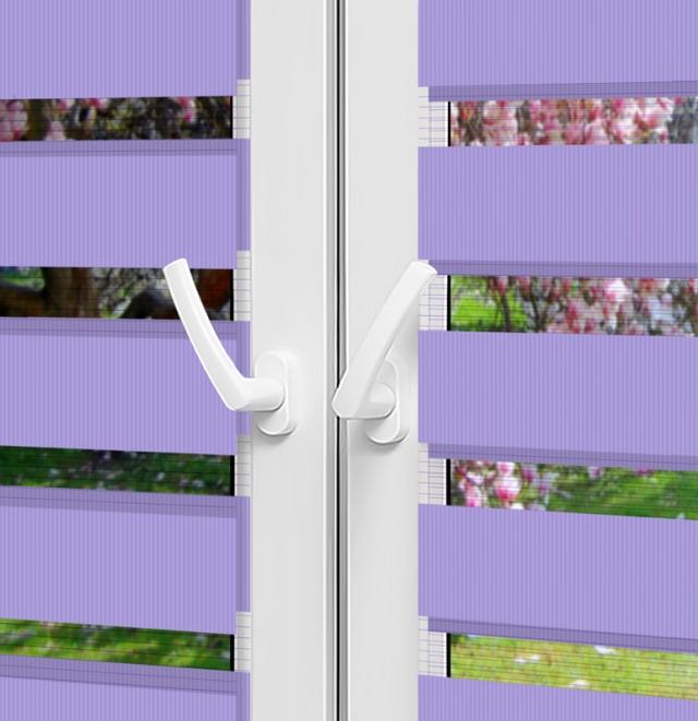 Рулонные шторы День-Ночь - Монца 53 на пластиковые окна