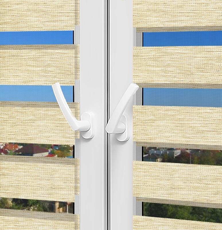 Рулонные шторы День-Ночь - Палермо 13 на пластиковые окна