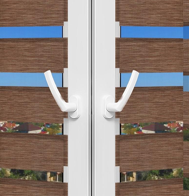 Рулонные шторы День-Ночь - Палермо 15 на пластиковые окна