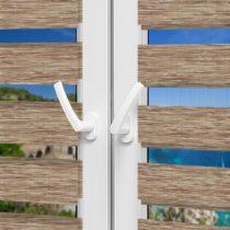Рулонные шторы День-Ночь - Сицилия 85 на пластиковые окна