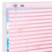 Горизонтальные алюминиевые жалюзи на пластиковые окна - цвет бледно-розовый