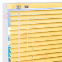 Горизонтальные алюминиевые жалюзи на пластиковые окна - цинково-желтый