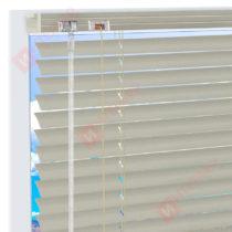 Горизонтальные алюминиевые жалюзи на пластиковые окна - цвет бежево-серый