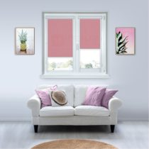 Рулонные кассетные шторы УНИ - Карина розовый
