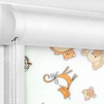 Рулонные кассетные шторы УНИ - Зоопарк
