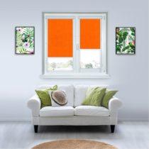 Рулонные кассетные шторы УНИ - Анже апельсин