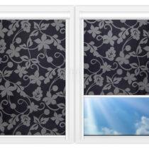 Рулонные кассетные шторы УНИ - Ажур-серый