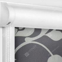 Рулонные кассетные шторы УНИ - Ажур серый