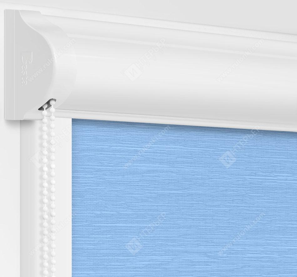 Рулонные кассетные шторы УНИ - Балтик голубой