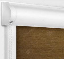 Рулонные кассетные шторы УНИ - Лусто коричневый