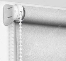 Рулонные шторы Мини - Металлик серебро