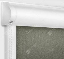 Рулонные кассетные шторы УНИ - Металлик темно-коричневый