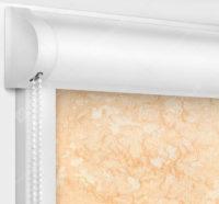 Рулонные кассетные шторы УНИ - Шелк персиковый