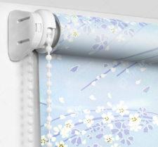 Рулонные шторы Мини - Сакура голубой