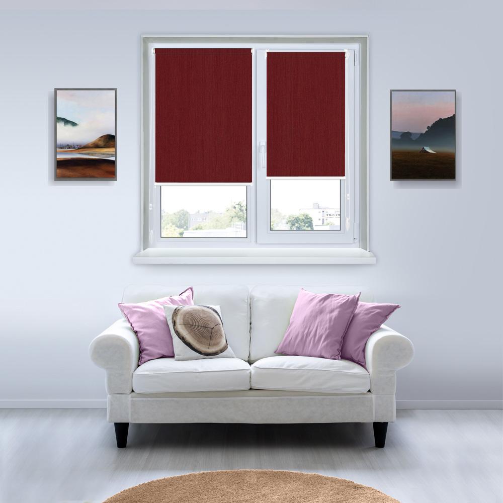 Рулонные шторы Мини - Лусто-бордовый