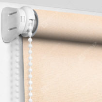 Рулонные кассетные шторы УНИ - Металлик-персиковый