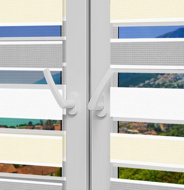 Рулонные шторы День-Ночь - Салерно 24 на пластиковые окна