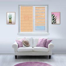 Рулонные шторы День-Ночь - Форли 2 на пластиковые окна