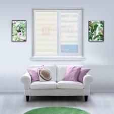 Рулонные шторы День-Ночь - Реджина 15 на пластиковые окна