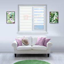 Рулонные шторы День-Ночь - Реджина 12 на пластиковые окна