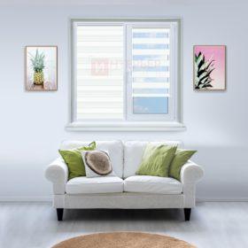 Рулонные шторы День-Ночь - Римини 15 на пластиковые окна