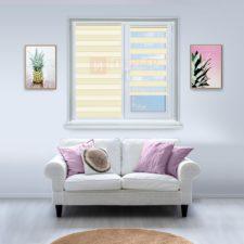 Рулонные шторы День-Ночь - Римини 24 на пластиковые окна
