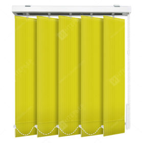 Вертикальные тканевые жалюзи Лайн лимонный