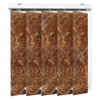 Вертикальные тканевые жалюзи Шёлк коричневый 4127