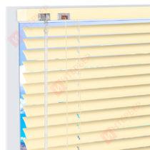 Горизонтальные алюминиевые жалюзи на пластиковые окна - цвет светло-бежевый