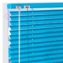 Горизонтальные алюминиевые жалюзи на пластиковые окна - цвет темно-голубой