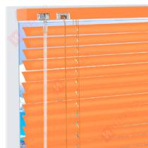 Горизонтальные алюминиевые жалюзи на пластиковые окна - цвет пастельно-желтый