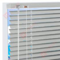 Горизонтальные алюминиевые жалюзи на пластиковые окна - цвет агатовый серый