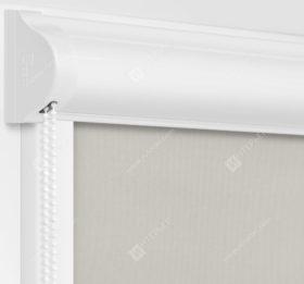 Рулонные кассетные шторы УНИ - Респект блэкаут бежевый
