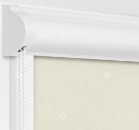 Рулонные кассетные шторы УНИ - Респект блэкаут кремовый