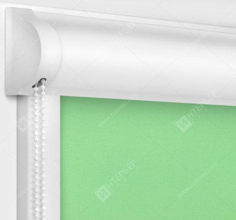 Рулонные кассетные шторы УНИ - Респект блэкаут зеленый