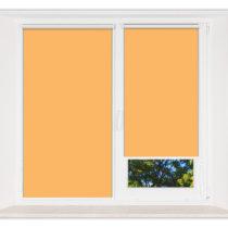 Рулонные кассетные шторы УНИ - Мадагаскар оранжевый