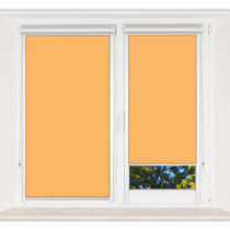 Рулонные шторы Мини - Мадагаскар оранжевый