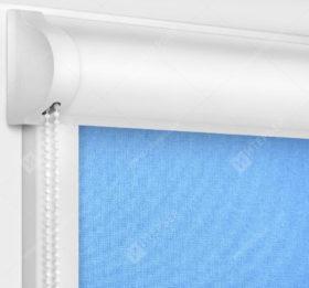 Рулонные кассетные шторы УНИ - Карина блэкаут голубой