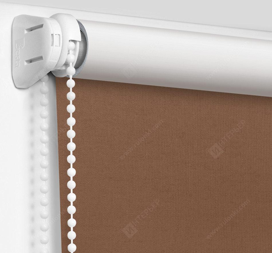 Рулонные шторы Мини - Карина Блэкаут коричневый