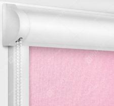 Рулонные кассетные шторы УНИ - Карина блэкаут розовый