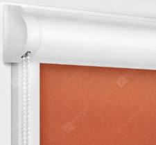 Рулонные кассетные шторы УНИ - Карина темно-коралловый