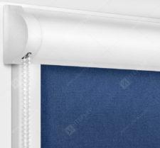 Рулонные кассетные шторы УНИ - Карина темно-синий