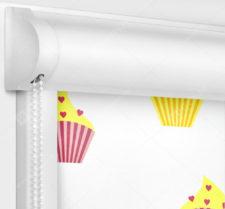 Рулонные кассетные шторы УНИ - Кексы