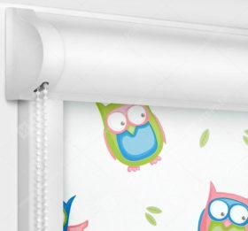 Рулонные кассетные шторы УНИ - Совушки
