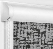Рулонные кассетные шторы УНИ - Атико блэкаут черный