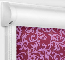 Рулонные кассетные шторы УНИ - Фрост бордовый