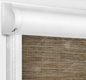 Рулонные кассетные шторы УНИ - Корсо блэкаут коричневый
